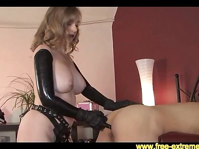 Sey Mature Strapping a Young Guy with a Huge Black Cock - More @ www.free-extreme.com