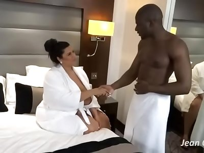 Sofia Rose bbw interracial massage   sex