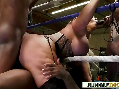Mature Blonde Reporter Gangbanged By Black Boxers - Alura Jenson