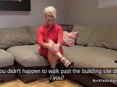 British blonde mature fucked at casting